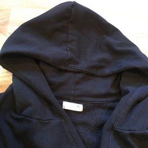 Old Navy Tops - NWOT Black Old Navy Hoodie With Tie Belt XL